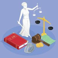 Themis The Justice Composition Vector Illustration