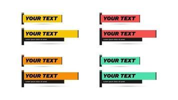 Vector lower third video headline title tv news bar design