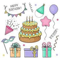 Happy Birthday set vector