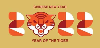 Chinese New Year 2022, Tiger Banner vector