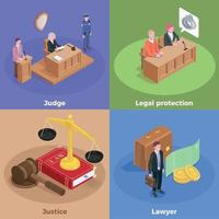 Law Justice Design Concept Vector Illustration