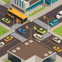City Isometric Composition Vector Illustration