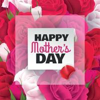 Mothers Day Card Vector Illustration