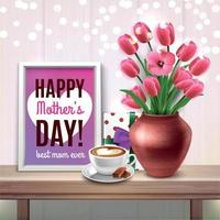 Mothers Day Colored Composition Vector Illustration