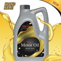 Motor Oil Ad Background Vector Illustration