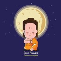 Poster of celebration of Guru Purnima vector