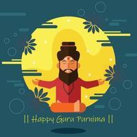 Poster of Happy Guru Purnima vector