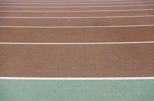 Straight running track photo
