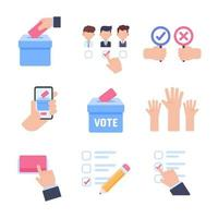 Election ballot vector. The hand holding the voting card of most people in making a choice. vector