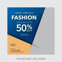 fashion banner for social media post template vector