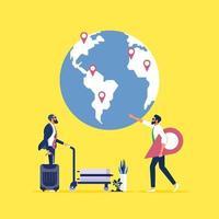 Choose your traveling tour and destination concept vector