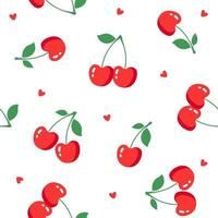 Seamless pattern with cherry. Vector