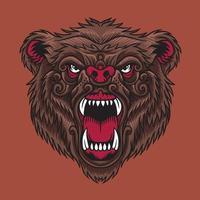 vector de cabeza de oso