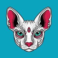 vector de cabeza de gato