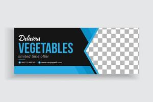 Food Sale Social Media Timeline Cover and Web Banner Template vector