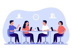 Group business employee people work together in office vector