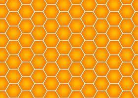 Vector honeycomb seamless pattern illustration, yellow to orange