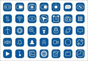 Mobile icons, smartphone signs, squares, symbols vector