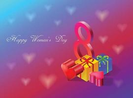 Happy woman's day, march 8 vector illustration,