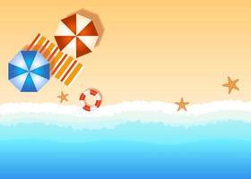 Copy space beach vector illustration,