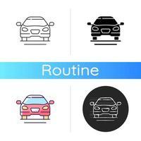 Sedan car icon. Fast personal transport vector