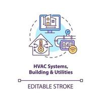 HVAC systems buildings and utilities concept icon vector