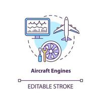 Aircraft engines concept icon vector