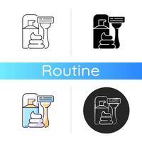 Razor and shaving cream icon vector