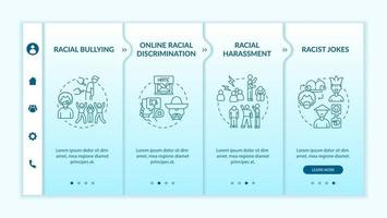 Racism in society onboarding vector template