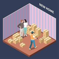 Cardboard Boxes Isometric Composition Vector Illustration