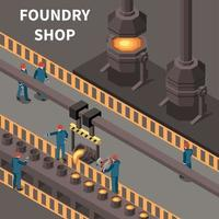 Metal Industry Isometric Composition Vector Illustration