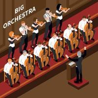 Music Isometric Composition Vector Illustration
