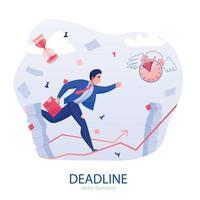 Time Management Deadline Composition Vector Illustration