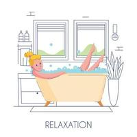 Woman Hygiene Bath Vector Illustration