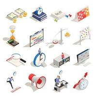 Business Planning Isometric Icons Vector Illustration