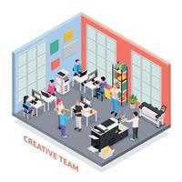 Printing House Isometric Concept Vector Illustration