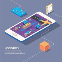 Smart Logistics Conceptual Composition Vector Illustration