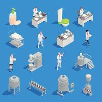 Cosmetics Detergent Production Isometric Icons Vector Illustration