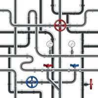 Pipeline Seamless Pattern Vector Illustration