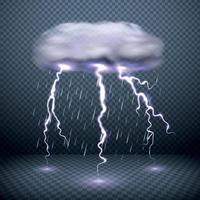 Realistic Falling Rain Background Vector Illustration