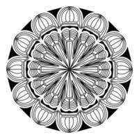 Decorative Black Mandala Background Design vector