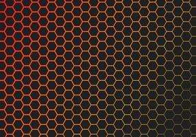 Abstract Technology Hexagon Gradient Background vector