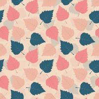Seamless Pattern with Birch Leaves vector