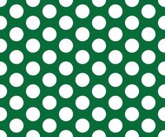 Vintage polka dots white and green pattern vector