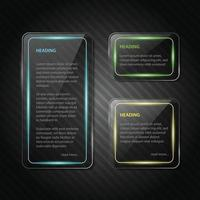 Glossy heading background design vector