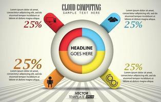 Info graphic cloud computing vector