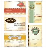 Bakery business card template design vector