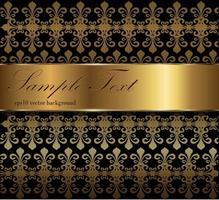 diseño de tarjeta floral vintage vector