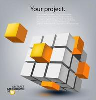 Abstract modern background design vector