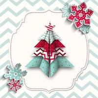 colorful origami christmas design vector